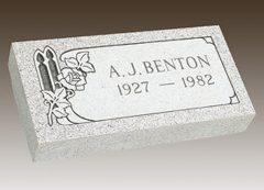 Benton Granite Grave Marker