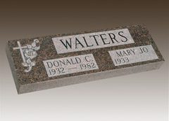 Walters Granite Grave Marker