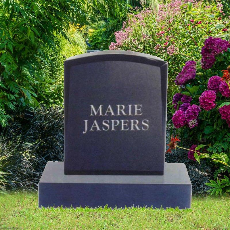 Black Granite Upright Rectangle Monument