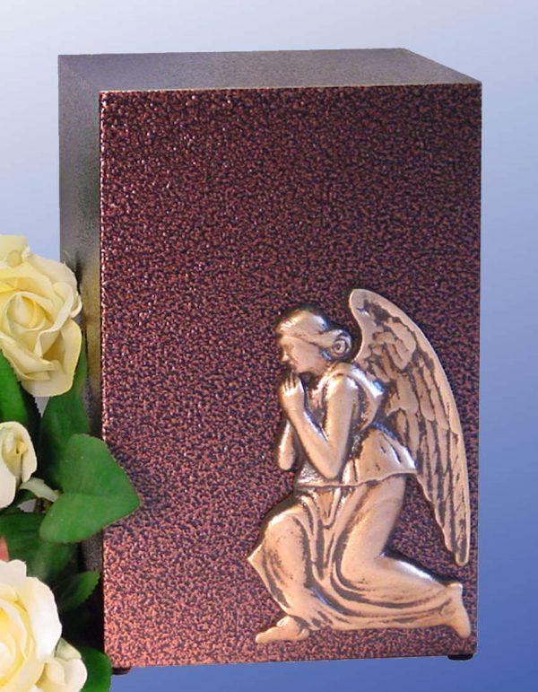 Praying Angel Aluminum with a Bronzed Enamel Finish Urn