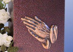 Praying Hands Aluminum with a Bronzed Enamel Finish Urn