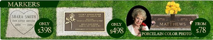 Sale on Grave Markers