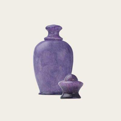 Amphora Violet Handblown Glass Urn