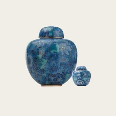 Blue Sapphire Cloisonné Urn
