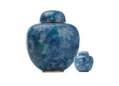 Blue Sapphire Cloisonne Urn