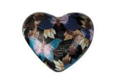 Butterfly Garden Cloisonne-heart