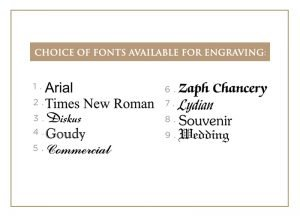 Choice of Fonts For Engraving