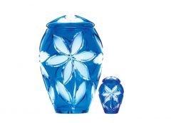 Fleurs Bleu Crystal Urn