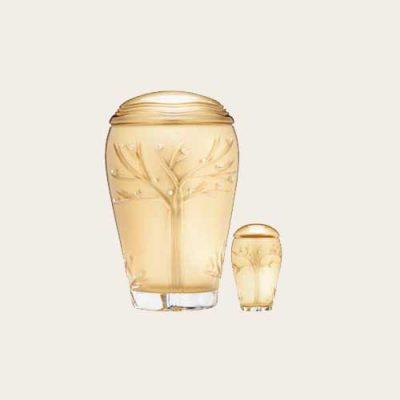 Golden Tree Of Life Crystal Urn