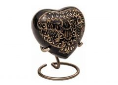 Midnight Ornate Heart