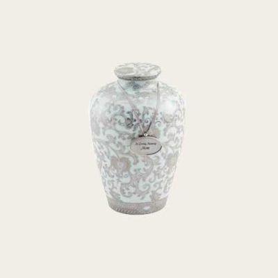Scroll Porcelain Urn