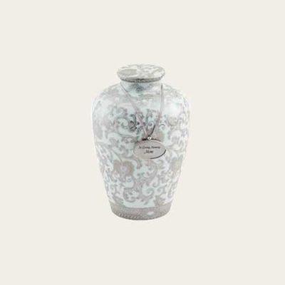Scroll Porcelain Urn