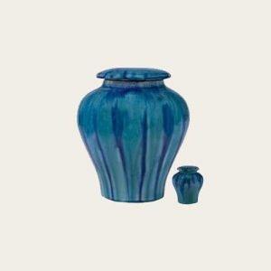 Spring Rain Ceramic Urn