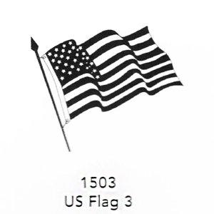 1503 Engraved US Flag 3 Design
