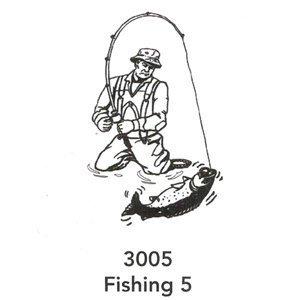 3005 Engraved Fishing 5 Design
