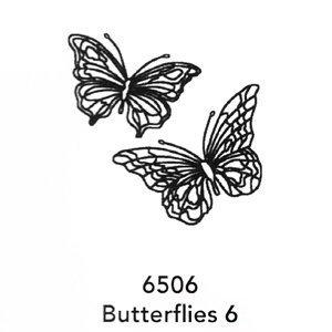 6506 Engraved Butterflies 6 Design