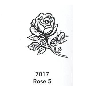 7017 Engraved Rose 5 Design
