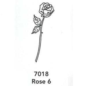 7018 Engraved Rose 6 Design