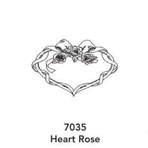 7035 Engraved Heart Rose Design
