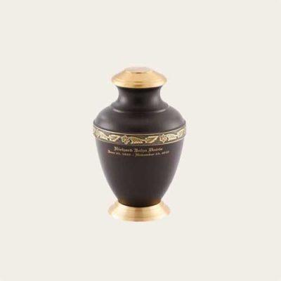 Metal Arcadia Umber Brass Urn