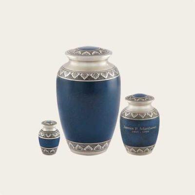 Metal Athens Pewter Blue Brass Urn