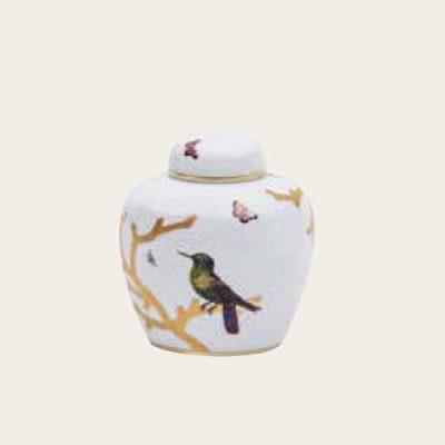 Aviary Porcelain Urns