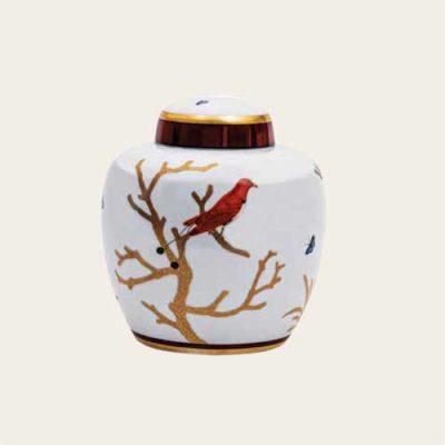Aviary Porcelain Urn