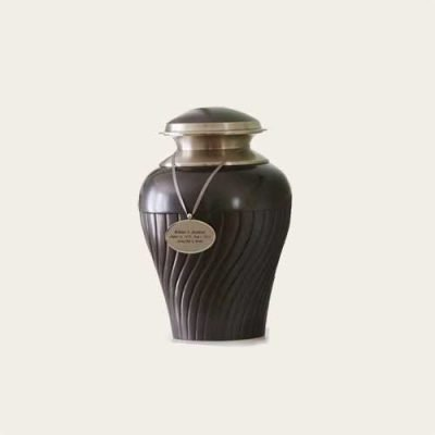 Metal Tuscany Slate Brass Urn