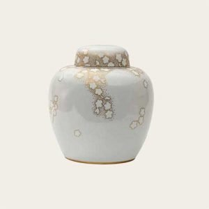 Cherry Blossom Porcelain Urns