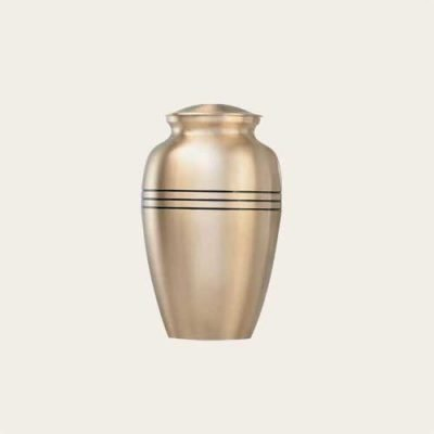 Metal Genoa Brushed Bronze Brass Urn