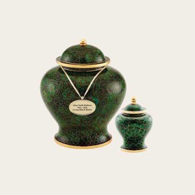 Jade Cloisonné Urn