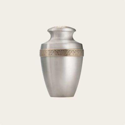 Metal Milano Floral Brass Urn