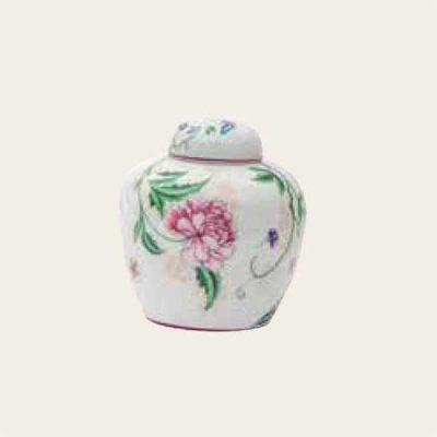 Peonies Porcelain Urns