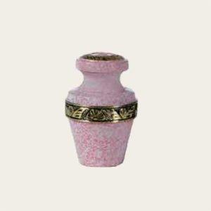 Metal Pink Milano Brass Keepsake Urn