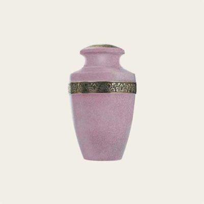 Metal Pink Milano Brass Urn