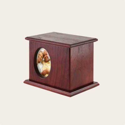 Elegant Wood Sausalito 5x7 Photo Companion Cherry Urn