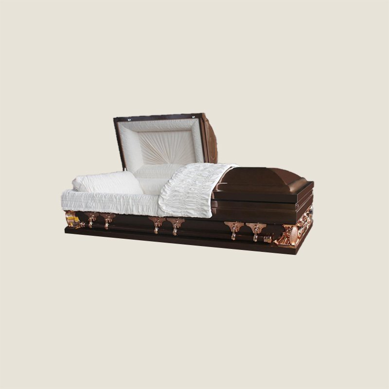 18 Gauge Gasketed Half Couch Burgundy Multi Size Casket