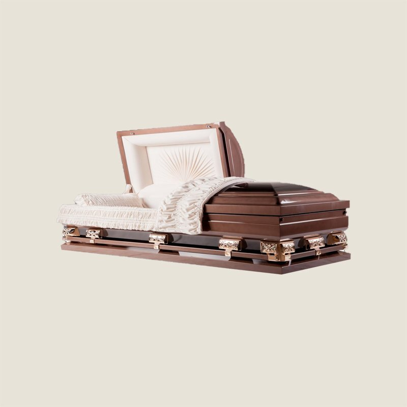 18 Gauge Gasketed Half Couch Copper Multi Size Casket