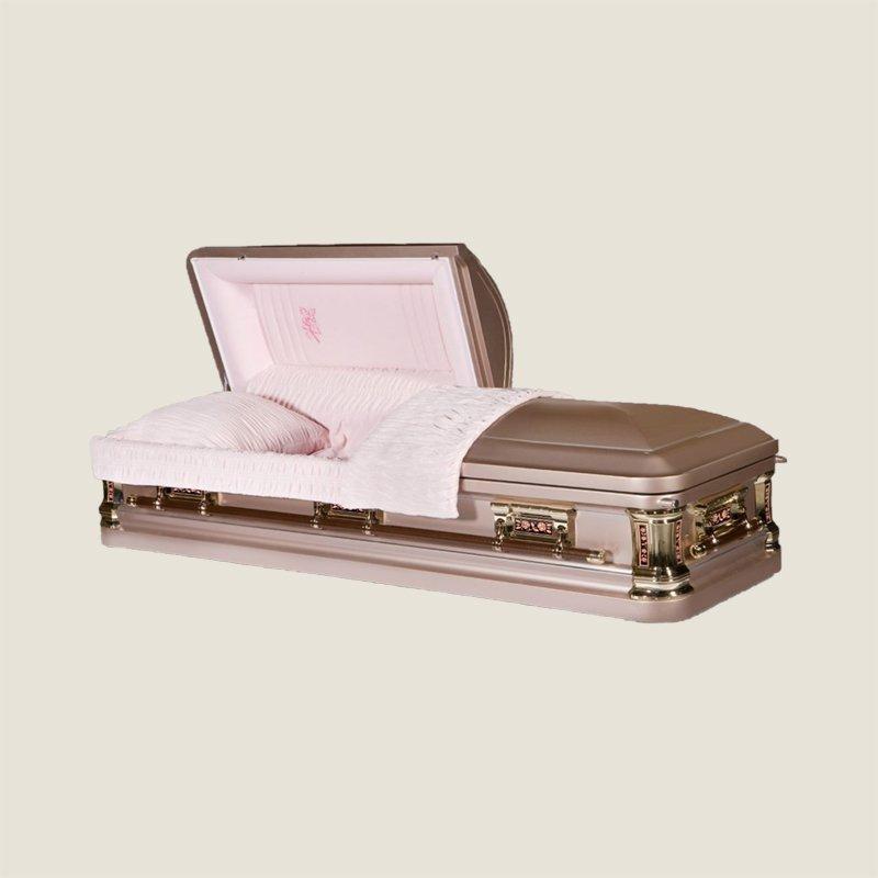 18 Gauge Gasketed Copper & Pink Casket