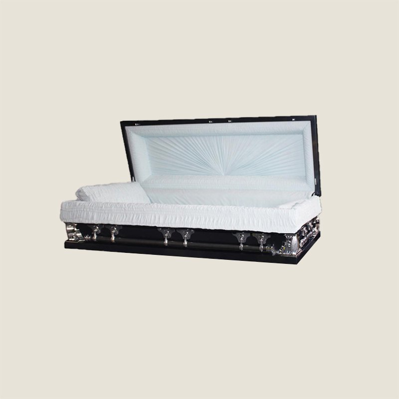 18 Gauge Gasketed Full Couch Black Multi Size Casket