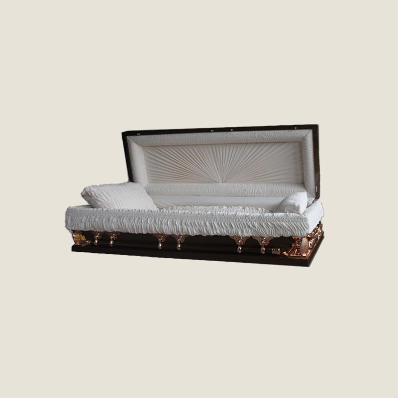 18 Gauge Gasketed Full Couch Burgundy Multi Size Casket