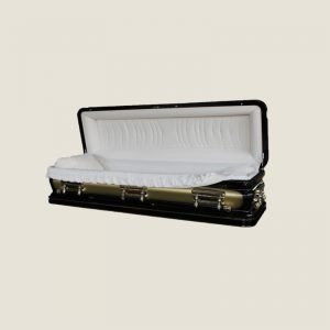 18 Gauge Gasketed Full Couch Gold & Brown Casket