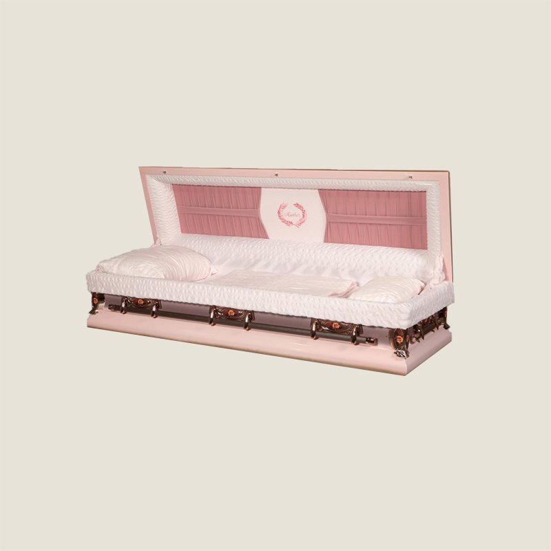 18 Gauge Gasketed Full Couch Pink Mother Casket