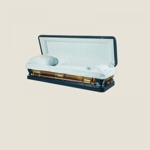 18 Gauge Gasketed Full Couch Sapphire Blue Casket