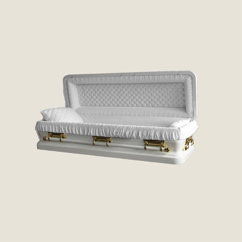 18 Gauge Gasketed Gold With White Velvet Casket