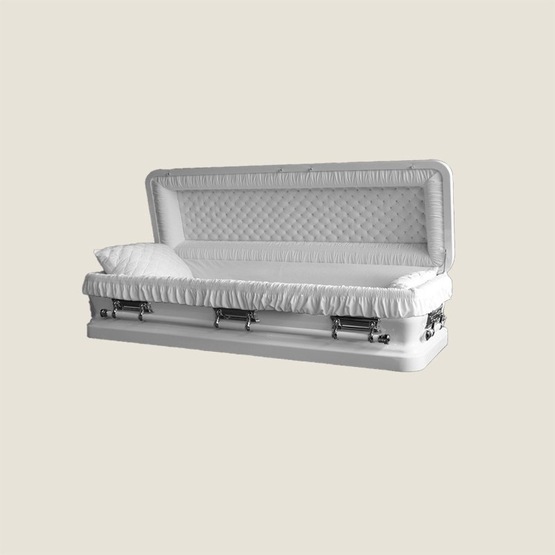 18 Gauge Gasketed Silver With White Velvet Casket