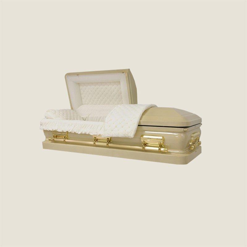 18 Gauge Gasketed Gold With Ivory Velvet Casket