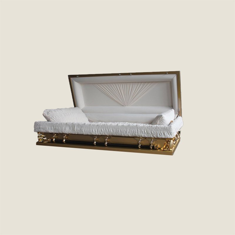 18 Gauge Gasketed Full Couch Gold Multi Size Casket