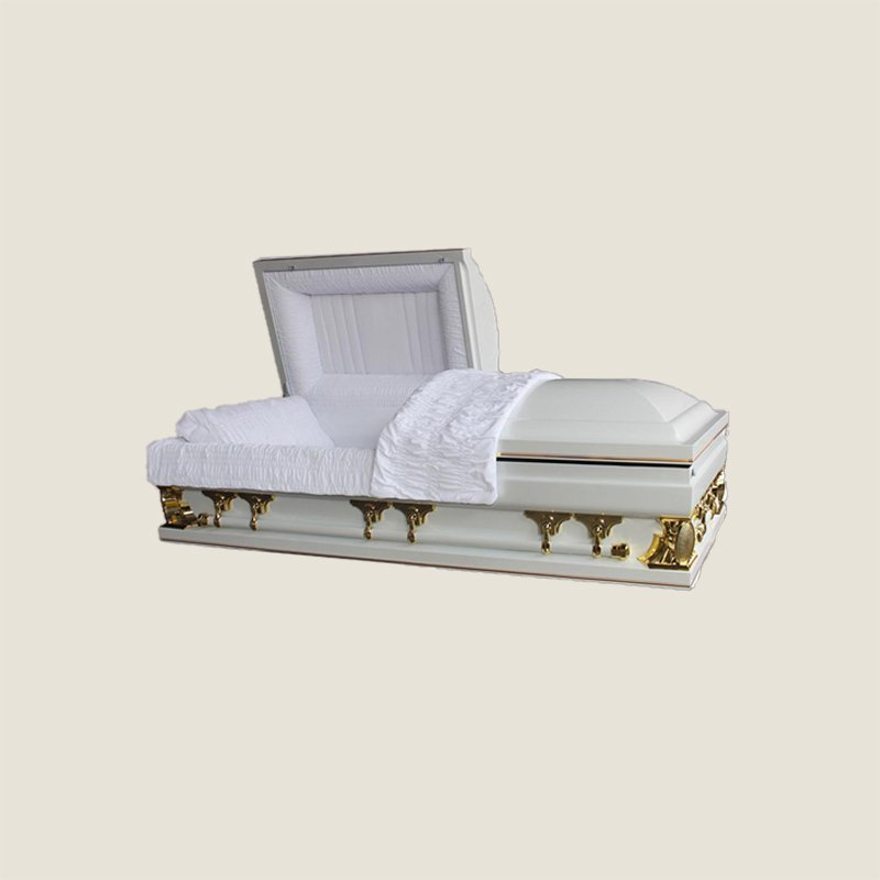 18 Gauge Gasketed White & Gold Multi Size Casket