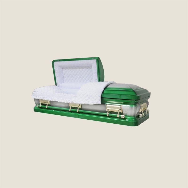 18 Gauge Gasketed Half Couch Green Casket